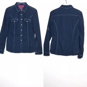 Tommy Hilfiger Western Style Button Down Shirt M